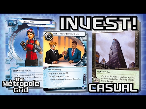 Android: Netrunner // Invest! Leela vs. Argus Security - Casual