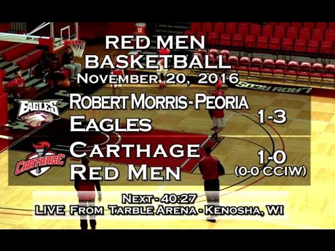 Carthage Men's Basketball vs. Robert Morris Peoria 2016_11_20
