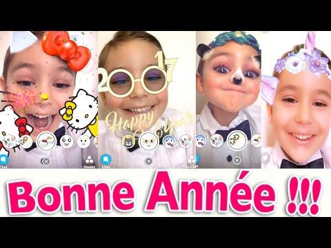 BONNE ANNÉE 2017 !!! VOEUX en FACESWAP SNAPCHAT & MSQRD 😂🎉