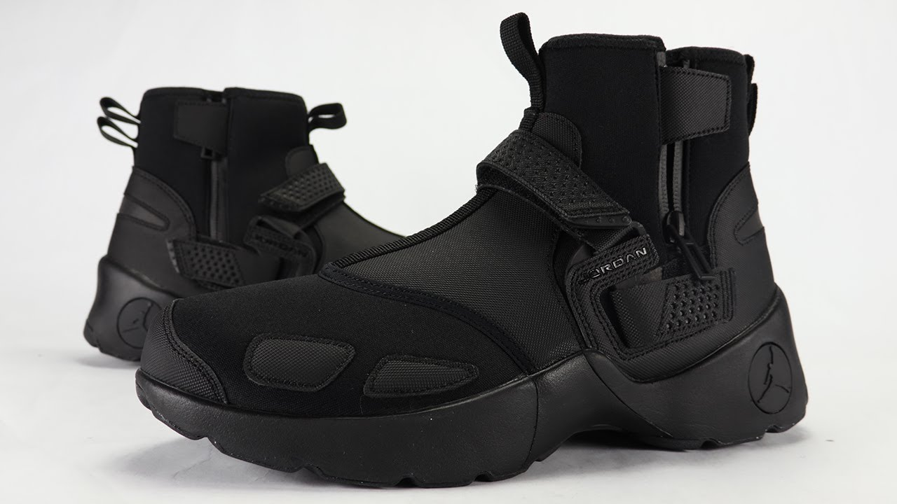 95d161db419 JORDAN TRUNNER LX HIGH TRIPLE BLACK REVIEW + ON FEET - YouTube