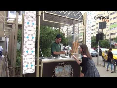 Înghețată turcească la Calif Iancului