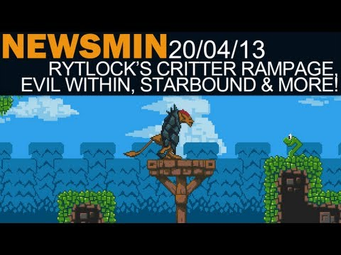 Newsmin - 20/04/13 - Rytlock's Critter Rampage Game, The Evil Within, Starbound Pre-Orders & More! - 동영상