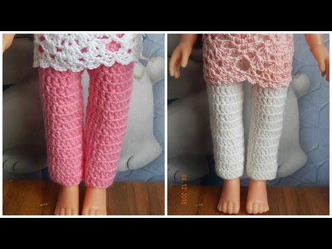 Вяжем штанишки для кукол крючком