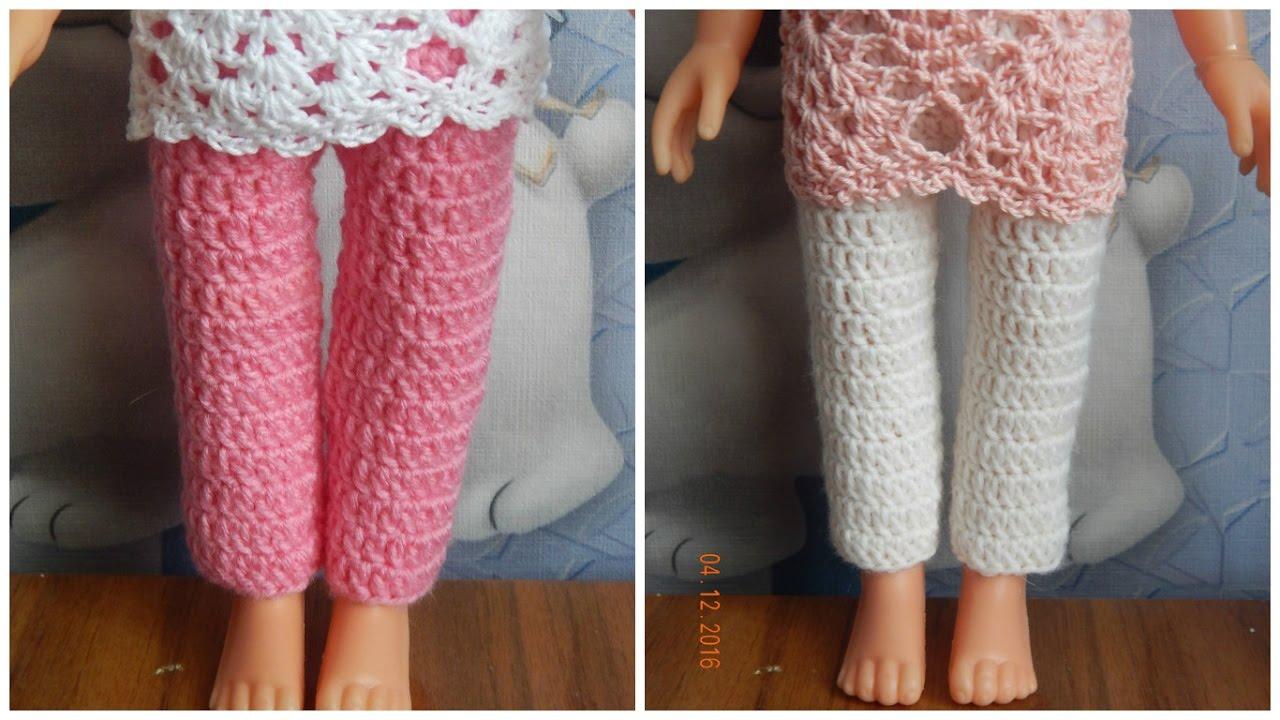 Как связать кукле штанишки крючком