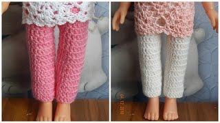 Одежда для кукол крючком. Штаны.