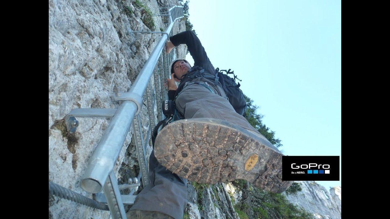 Klettersteig Decin : Tegelberg gelbe wand klettersteig hd goprohero