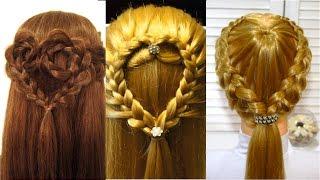 Прически Сердце из волос на день Святого Валентина  Valentine's day hairstyles