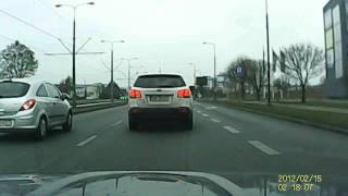 Nagranie z kamerki samochodowej Bydgoszcz Fordońska 07-12-2014