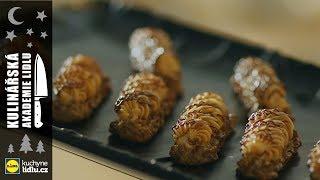 Ořechové tyčinky s karamelem a čokoládovou polevou - Roman Paulus - Kulinářská Akademie Lidlu