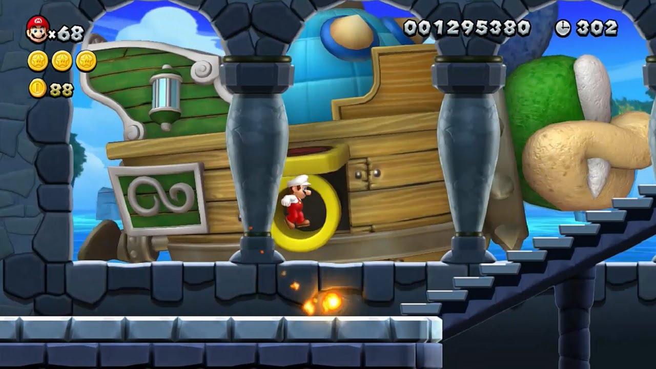 New Super Mario Bros U Walkthrough Part 3 World 3 Sparkling