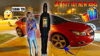 wow-jay-gift-tay-a-new-set-of-rims-for-her-car