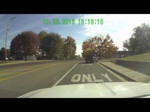 Driving through Seymour Indiana