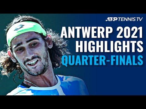 Schwartzman Faces Nakashima; Harris & Sinner In Action   Antwerp 2021 Quarter-Final Highlights