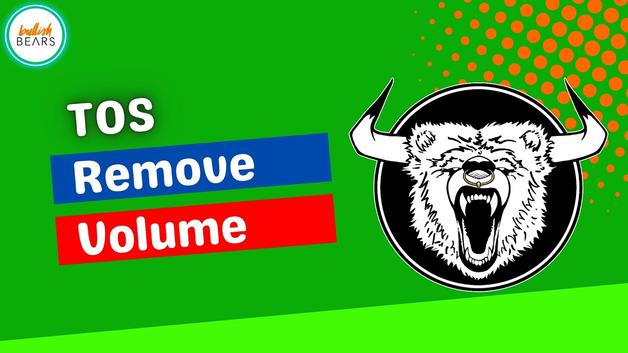 ThinkorSwim Remove Volume on Charts - YouTube