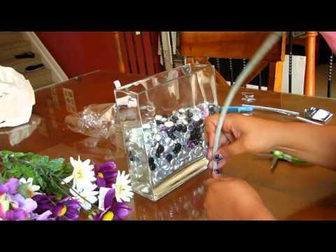 Easy Fake Flowers..Glass Vase & Easy Fake Flowers..Glass Vase - YouTube