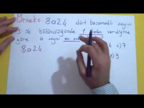 Bölme Bölünebilme 1 Şenol Hoca Matematik