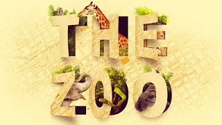 Amazing Cutout ZOO TYPOGRAPHY Text Effect Photoshop Tutorial | Educational