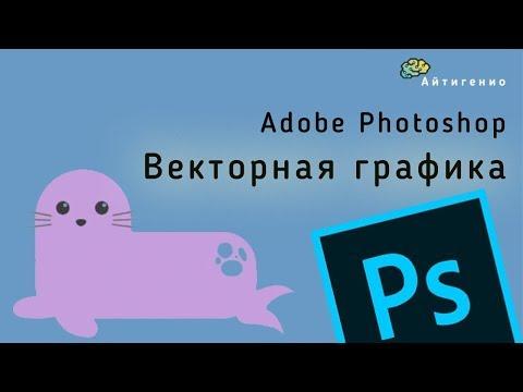 Уроки по Photoshop. Векторная графика. Рисуем тюленя