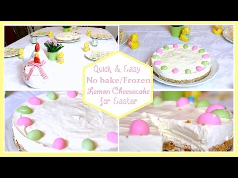 Quick Easy No bake Frozen Lemon Cheesecake for Easter YouTube