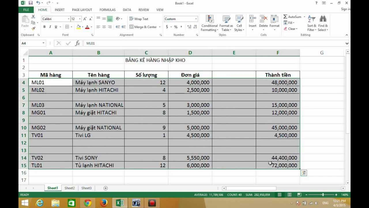 Excel 2013 - Hướng Dẫn Xóa Nhanh Các Ô Trống, Dòng Trống Và Cột Trống