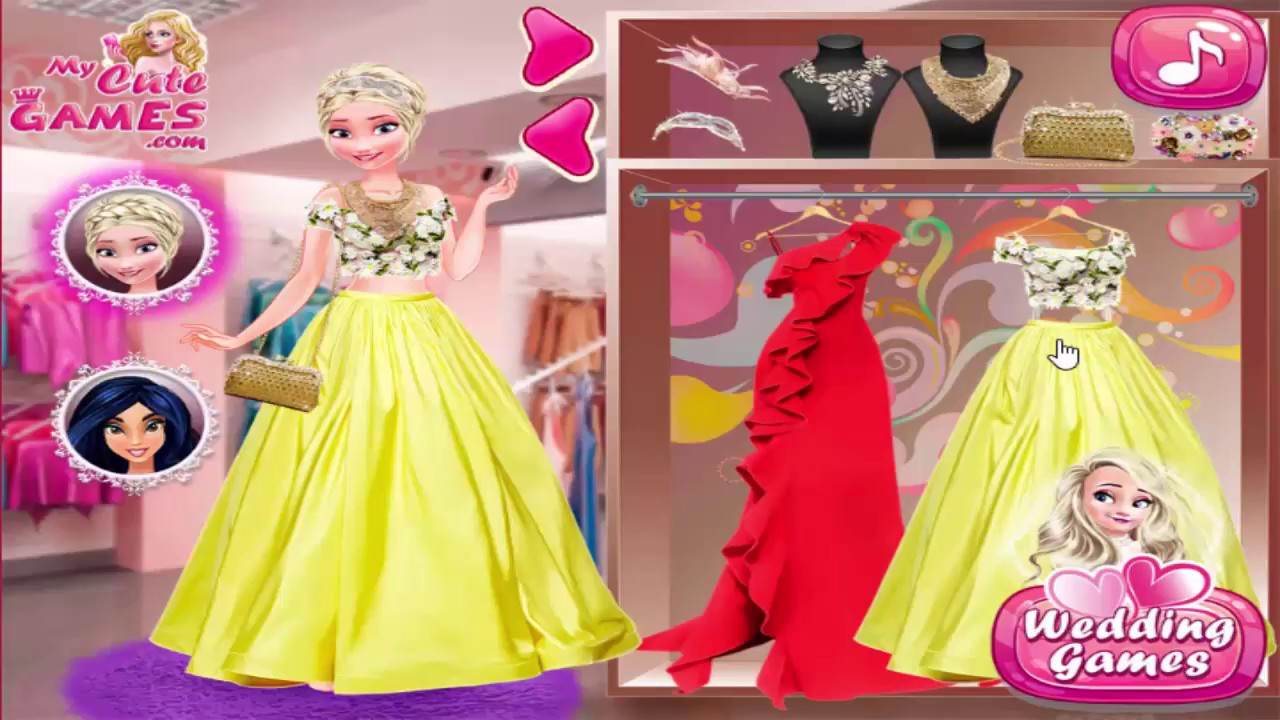 Disney Princess Games Wedding Dress for Ariana - YouTube