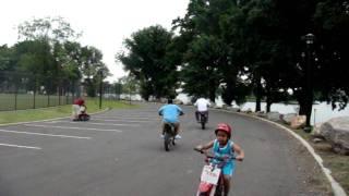 Yanyi on a 80cc dirtbike