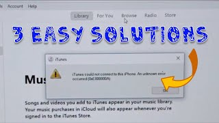 0xE80000A or 0xE800000A Error Fixed : iPhone to Windows PC iTunes Error (3 Fixes)