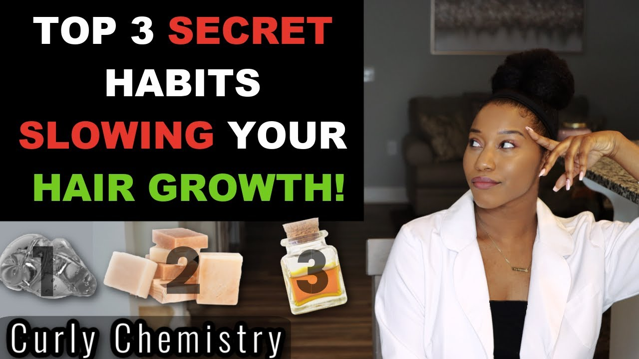 3 SECRET HABITS SLOWING YOUR HAIR GROWTH!