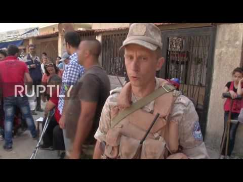 Syria: Russian officers deliver aid to civilians and disabled people in Latakia