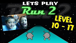 Lets Play RUN 2: SKATE Level 10 - 17 w/ The Skylander Girl, Boy and Dad (Cool Math Games Face Cam)