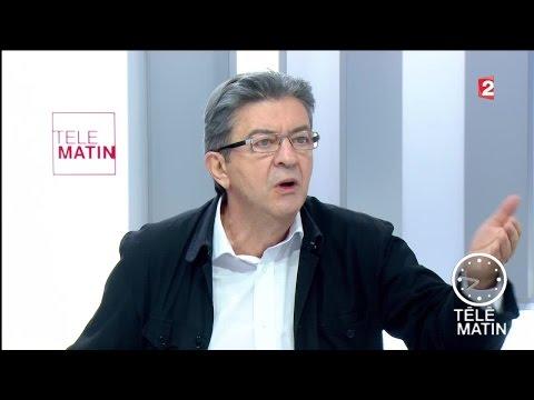Jean-Luc Mélenchon, candidat à l'élection présidentielle de 2017, invité des 4 vérités.