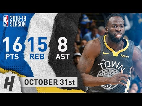 Draymond Green Full Highlights Warriors vs Pelicans 2018.10.31 - 16 Pts, 15 Reb, 8 Ast