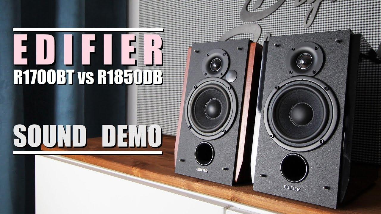 Edifier R1850DB vs Edifier R1700BT  ||  Sound Demo w/ Bass Test