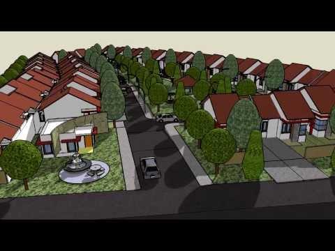 Disain Town House Terbuka ☀️