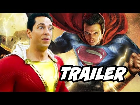 Shazam Superman Trailer - Justice League Crossover Breakdown