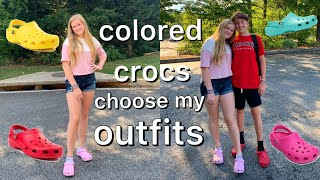 colored crocs choose my outfits for a week