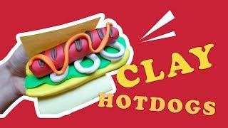 Làm Bánh Mì Xúc Xích Bằng Đất Nặn  |  Quick/Easy Polymer Clay Hot Dog Tutorial
