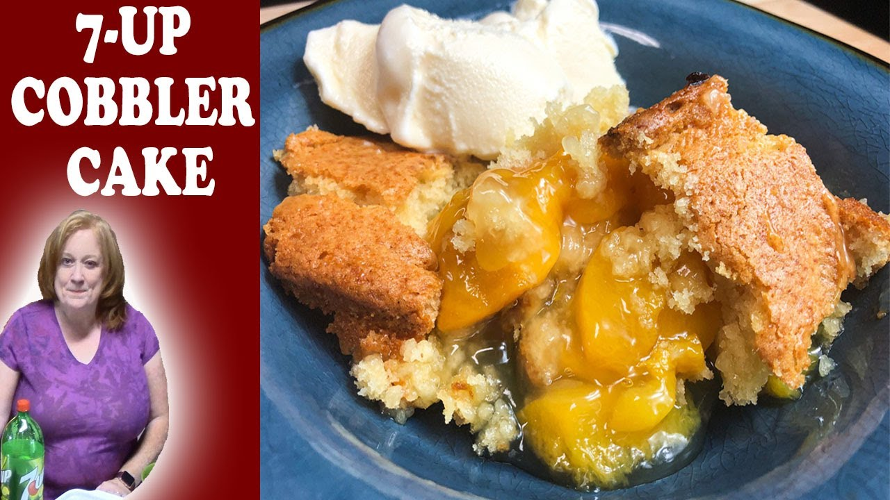 3 INGREDIENT 7 UP COBBLER CAKE RECIPE | Bake With Me Easy Fruit Cobbler Cake
