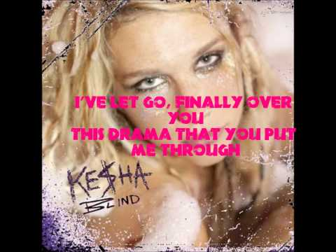 Kesha- Blind with lyrics!