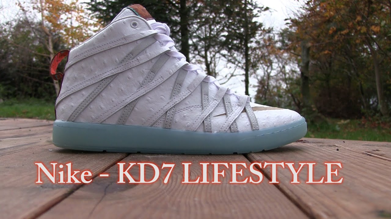 separation shoes fe943 b0fdc Nike - KD7 Lifestyle (White   IceBlue) - On Feet