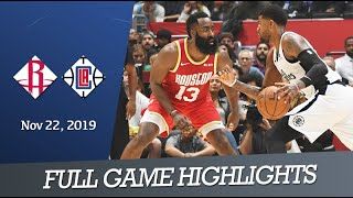 Houston Rockets vs LA Clippers - Full Game Highlights | Nov 22, 2019 | NBA Season 2019-20