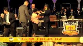 "Prophet Manasseh Jordan - Heavy Prophecy ""BREAKS CURSE"" off of lady"