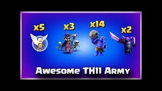 3 Witch + 2 PEKKA + 15 Bowler + 5 Healer TH11 3 Star Attacks | TH11 War Strategy Clash of Clans