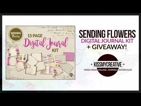 """""""Sending Flowers"""" Digital Journal Kit + 5K Giveaway! *CLOSED*"""