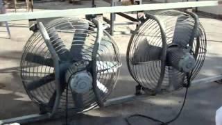Осевые вентиляторы в защитной решетке