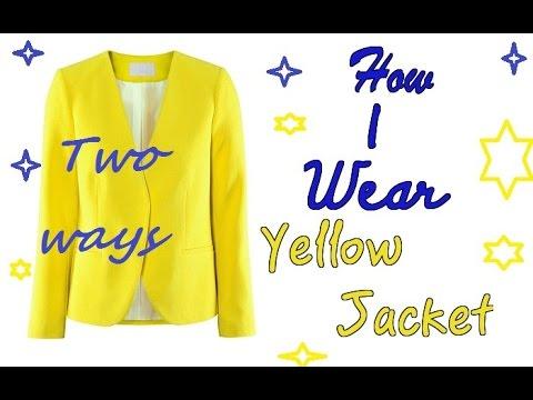 Желтый жакет - носи правильно!!!