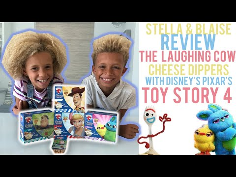 STELLA & BLAISE REVIEW THE LAUGHING COW CHEESE DIPPERS WITH DISNEY'S PIXAR'S TOY STORY 4!!!