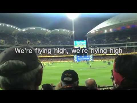 West Coast Eagles Club Song AFL with Lyric Live Adelaide Oval Round 23 vs Crows