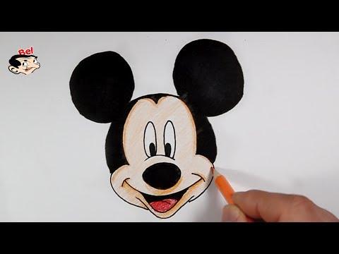 رسم ميكي ماوس بالخطوات تعليم الرسم للاطفال How To Draw Mickey Mouse Youtube