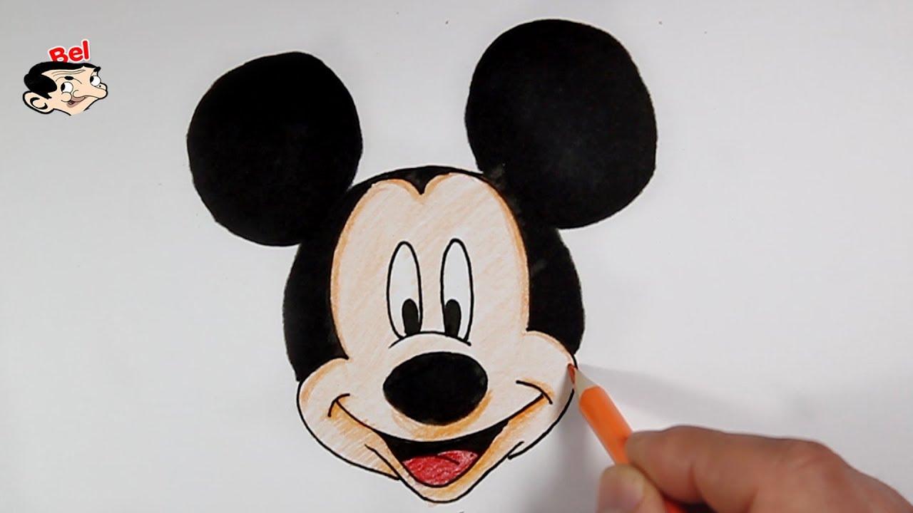 رسم ميكي ماوس بالخطوات تعليم الرسم للاطفال How To Draw Mickey